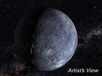 Fotografia de l'asteroide (50000) Quaoar