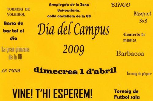 Cartell Dia del Campus 2009 (feu clic a la imatge per ampliar-la)