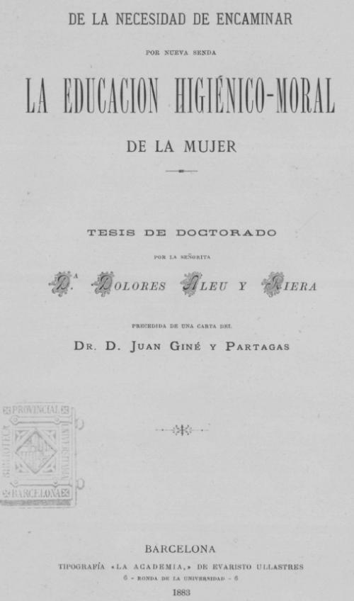 Portada de la tesi de la doctora Aleu (feu clic a la imatge per ampliar-la)