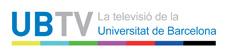 Logo d'UBTV La Televisió de la Universitat de Barcelona